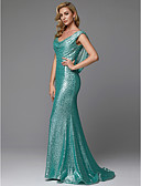 cheap Prom Dresses-Mermaid / Trumpet Scoop Neck Sweep / Brush Train Sequined Sparkle & Shine Prom / Formal Evening Dress with Beading / Sequin by TS Couture®