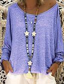 povoljno Majica s rukavima-Majica s rukavima Žene - Osnovni Dnevno Jednobojni