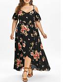 رخيصةأون فساتين طويلة-فستان نسائي ثوب ضيق أساسي طويل للأرض