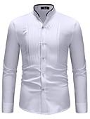 povoljno Muške košulje-Majica Muškarci - Osnovni Dnevno Color block Kineski ovratnik Obala / Dugih rukava
