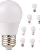 رخيصةأون زينة الكيك-10pcs 3W 350lm E26 / E27 مصابيح كروية LED G45 6 الخرز LED SMD 2835 ضد الماء ديكور أبيض دافئ أبيض كول 220-240V