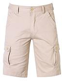 お買い得  メンズTシャツ&タンクトップ-男性用 ストリートファッション チノパン / ショーツ パンツ - ソリッド ネイビーブルー