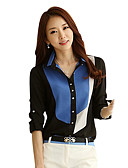 cheap Women's Shirts-Women's Work / Beach Shirt - Color Block Patchwork Shirt Collar / Summer