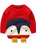 お買い得  赤ちゃん セーター&カーディガン-赤ちゃん 女の子 ストリートファッション ジャカード 長袖 レギュラー セーター&カーデガン ブラウン / 幼児