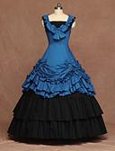 preiswerte Unterröcke für Hochzeitskleider-Cosplay - Lolita Vintage Inspirationen Kostüm Damen Kleid Blau Vintage Cosplay Party Bühne Ärmellos Ärmellos Platz Boden-Länge Übergrössen