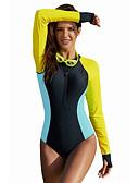 halpa Yksiosaiset uima-asut-Naisten Perus Sateenkaari Korkea vyötärö Yksiosainen Uima-asut - Color Block L XL XXL Sateenkaari / Seksikäs