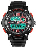 Недорогие Спортивные часы-Муж. Спортивные часы электронные часы Цифровой Черный Защита от влаги Календарь Секундомер Аналого-цифровые На каждый день Мода - Желтый Красный Зеленый / Фосфоресцирующий