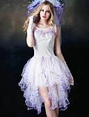 זול גופים סקסיים-נורמלי פוליאסטר Corset סקסית אחיד חתונה תחרה שמלת מחוך