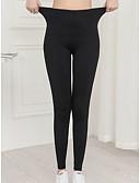 hesapli Taytlar-Kadın's Podstawowy Legging - Solid, Desen Orta Bel Siyah L XL XXL
