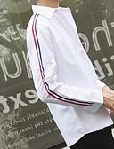 abordables Ropa Interior y Calcetines de Hombre-Hombre Básico Algodón Camisa Delgado Un Color Blanco L / Manga Larga