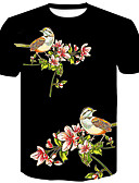 cheap Men's Shirts-Men's Basic / Street chic T-shirt - Color Block Print