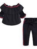 זול סטים של ביגוד לבנות-סט של בגדים ללא שרוולים אחיד בנות ילדים / פעוטות