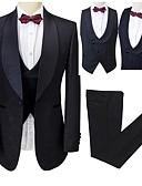 ieftine Cămăși-Cu model Fit Croit Poliester Costum - Șal  Guler Un singur rând, un nasture