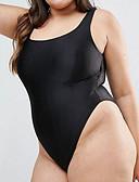 povoljno One-piece swimsuits-Žene Plava Crn Cheeky gaćice Jednodijelno Kupaći kostimi - Geometrijski oblici XXL XXXL XXXXL