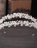 abordables Velos de Boda-Legierung Tiaras con Perlado Artificial / Detalles de Cristal 1 Pieza Boda / Ocasión especial Celada