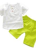 billige Sett med Gutter babyklær-Baby Gutt Grunnleggende Daglig Trykt mønster Kortermet Normal Normal Bomull Tøysett Grønn