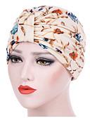 billige Hatter til damer-Dame Grunnleggende Solhatt Ensfarget Blomstret Polyester Navyblå Grå Marineblå