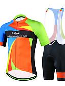Χαμηλού Κόστους Ανδρικά μπλουζάκια και φανελάκια-cheji® Ανδρικά Κοντομάνικο Αθλητική φανέλα και σορτς ποδηλασίας Βαθυγάλαζο Πράσινο Μπλε Ποδήλατο Ρούχα σύνολα Αναπνέει Γρήγορο Στέγνωμα Αθλητισμός Λίκρα Patchwork Ποδηλασία Βουνού Ποδηλασία Δρόμου