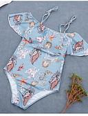 economico Costumi interi-Per donna Rosa Grigio Blu chiaro Slip brasiliano Intero Costumi da bagno - Fantasia geometrica M L XL Rosa