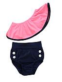halpa Tyttöjen uima-asut-Lapset Taapero Tyttöjen Aktiivinen Perus Päivittäin Bile Yhtenäinen Hihaton Uima-asu Punastuvan vaaleanpunainen
