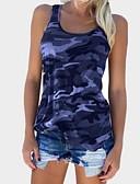 billige T-skjorter til damer-Store størrelser Singleter Dame - Kamuflasje Militær Grå