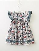 economico Vestiti per ragazze-Bambino (1-4 anni) Da ragazza Dolce / stile sveglio Fantasia geometrica Manica corta Vestito Bianco