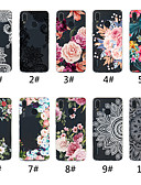 זול מגנים לטלפון-מגן עבור Huawei Huawei P20 / Huawei P20 Pro / Huawei P20 lite שקוף / תבנית כיסוי אחורי הדפסת תחרה / פרח רך TPU / P10 Lite / P10