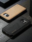 hesapli Cep Telefonu Kılıfları-Pouzdro Uyumluluk Samsung Galaxy S7 Su Geçirmez / Şoka Dayanıklı / Kendin-Yap Arka Kapak Solid Sert PU Deri