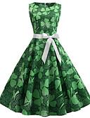 رخيصةأون الأزياء التنكرية التاريخية والقديمة-فستان نسائي A line فوق الركبة ألوان متناوبة / مثير