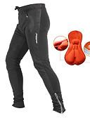 economico Pantaloni, pantaloncini e cosciali da ciclismo-Jaggad Per uomo Pantaloni da ciclismo - Nero Tinta unita Classico Bicicletta Pantalone / Sovrapantaloni Calze / Collant / Cosciali Pantaloni Tenere al caldo Traspirante Pad 3D Gli sport Inverno Nylon
