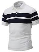 preiswerte Herren Polo Shirts-Herrn Einfarbig Polo, Hemdkragen Weiß XL / Kurzarm / Sommer