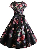 cheap Vintage Dresses-Women's Slim Swing Dress L XL XXL