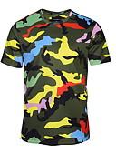 お買い得  メンズTシャツ&タンクトップ-男性用 Tシャツ ラウンドネック カモフラージュ