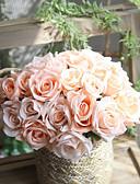 povoljno Haljine za djevojčice-Umjetna Cvijeće 1 Podružnica Za jednu osobu Suvremena suvremena Pastoral Style Roses Cvjeće za stol