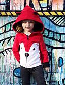 billige De flotteste sparkedragter-Baby Pige Aktiv / Basale Trykt mønster Trykt mønster Normal Bomuld Jakke og frakke Lyserød