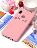 halpa Puhelimen kuoret-Etui Käyttötarkoitus Huawei Huawei P20 / Huawei P20 lite Ultraohut Takakuori Kissa / 3D sarjakuva Pehmeä Silikoni
