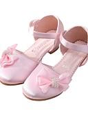 Χαμηλού Κόστους Φορέματα για κορίτσια-Κοριτσίστικα Σατέν Σανδάλια Νήπιο (9m-4ys) / Τα μικρά παιδιά (4-7ys) / Μεγάλα παιδιά (7 ετών +) Λουλουδάτα φορέματα για κορίτσια / Tiny Τακούνια για Teens Φιόγκος / Ταινία Δεσίματος / Γάμου / Γάμου