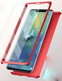זול מגנים לטלפון-מגן עבור Huawei Huawei P20 / Huawei P20 lite / Huawei P9 Plus עמיד בזעזועים כיסוי מלא אחיד קשיח PC