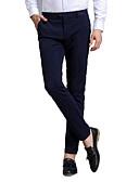 cheap Men's Pants & Shorts-Men's Suits Pants - Solid Colored Blue