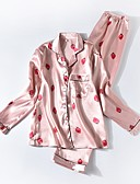 preiswerte Pyjamas-Damen Hemdkragen Satin & Seide / Anzüge Pyjamas Geometrisch