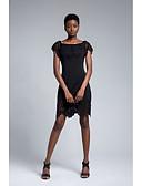 levne Koktejlové šaty-Pouzdrové Klenot Krátký / Mini Úplet Šaty s Krajkový klín podle LAN TING Express