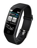 hesapli Spor Saat-Kimlink V8 Kadın Akıllı Bilezik Android iOS Bluetooth Smart Sporlar Su Geçirmez Kalp Ritmi Monitörü Kan Basıncı Ölçümü Pedometre Arama Hatırlatıcı Uyku Takip Edici Hareketsiz Hatırlatma Cihazımı Bul