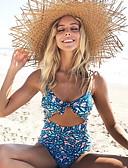 preiswerte Einteilie Badeanzüge-Damen Grün Cheeky-Bikinihose Bikinis Bademode - Geometrisch M L XL Grün