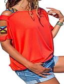 billige T-skjorter til damer-T-skjorte Dame - Ensfarget, Utskjæring Svart