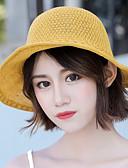 olcso Női kalapok-Női Virágminta Poliészter,aranyos stílus-Szalmakalap Nyár Bézs Sárga Khakizöld