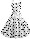 povoljno Vintage kraljica-Žene A kroj Haljina S naramenicama Iznad koljena