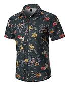 hesapli Erkek Gömlekleri-Erkek Gömlek Çiçekli Gri
