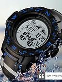 abordables Relojes Digitales-SKMEI Hombre Reloj Deportivo Digital Caucho Negro / Fucsia 50 m Resistente al Agua Calendario Luminoso Digital Casual Moda - Negro Rojo Azul
