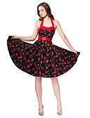 povoljno Vintage kraljica-Žene Vintage Swing kroj Haljina Do koljena