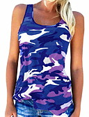 cheap The Must Have Styles-Women's Cotton T-shirt - Camo / Camouflage Strap Gray XXXL